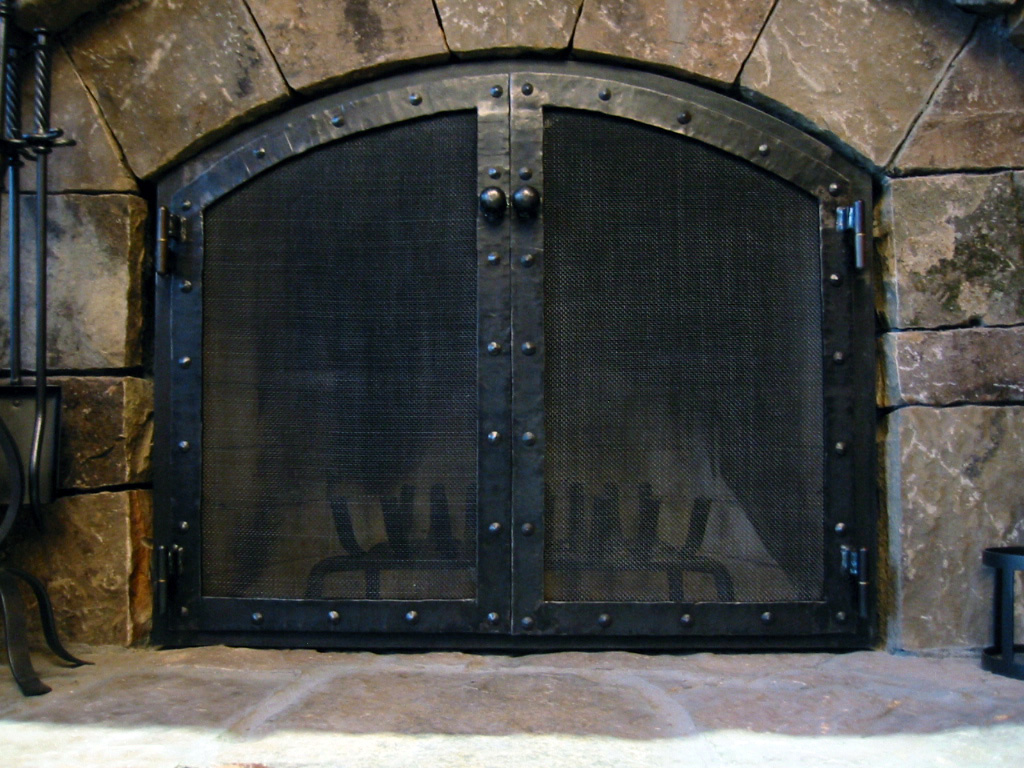 Firescreen-8 - Fireplace Screens Blue Mountain Metalworks Custom Ornamental