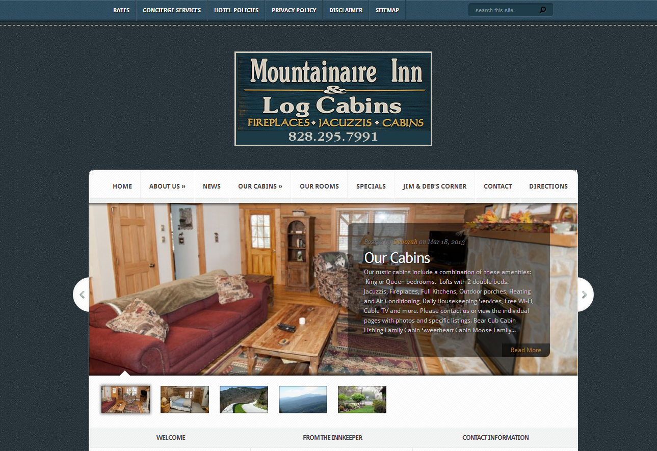 Website Design U0026 Development, Website Hosting, Search Engine Optimization,  Computer Consulting. At The Mountainaire Inn ...